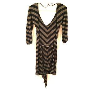 Bebe Striped Bodycon Dress